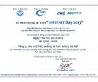 """LỄ PHÁT ĐỘNG SỰ KIỆN """"INTERNET DAY 2013"""""""