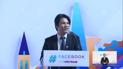 """Tổng Thư ký Hiệp hội Internet Việt Nam (VIA) Vũ Thế Bình phát biểu tại sự kiện Chiến dịch """"Facebook vì Việt Nam"""""""