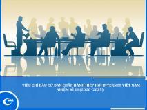 Tiêu chí Bầu cử Ban Chấp hành Hiệp hội Internet Việt Nam Nhiệm kì III (2020 - 2025)