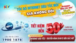 SCTV TĂNG TỐC ĐỘ INTERNET SIÊU TỐC MỚI TRÊN  TOÀN QUỐC